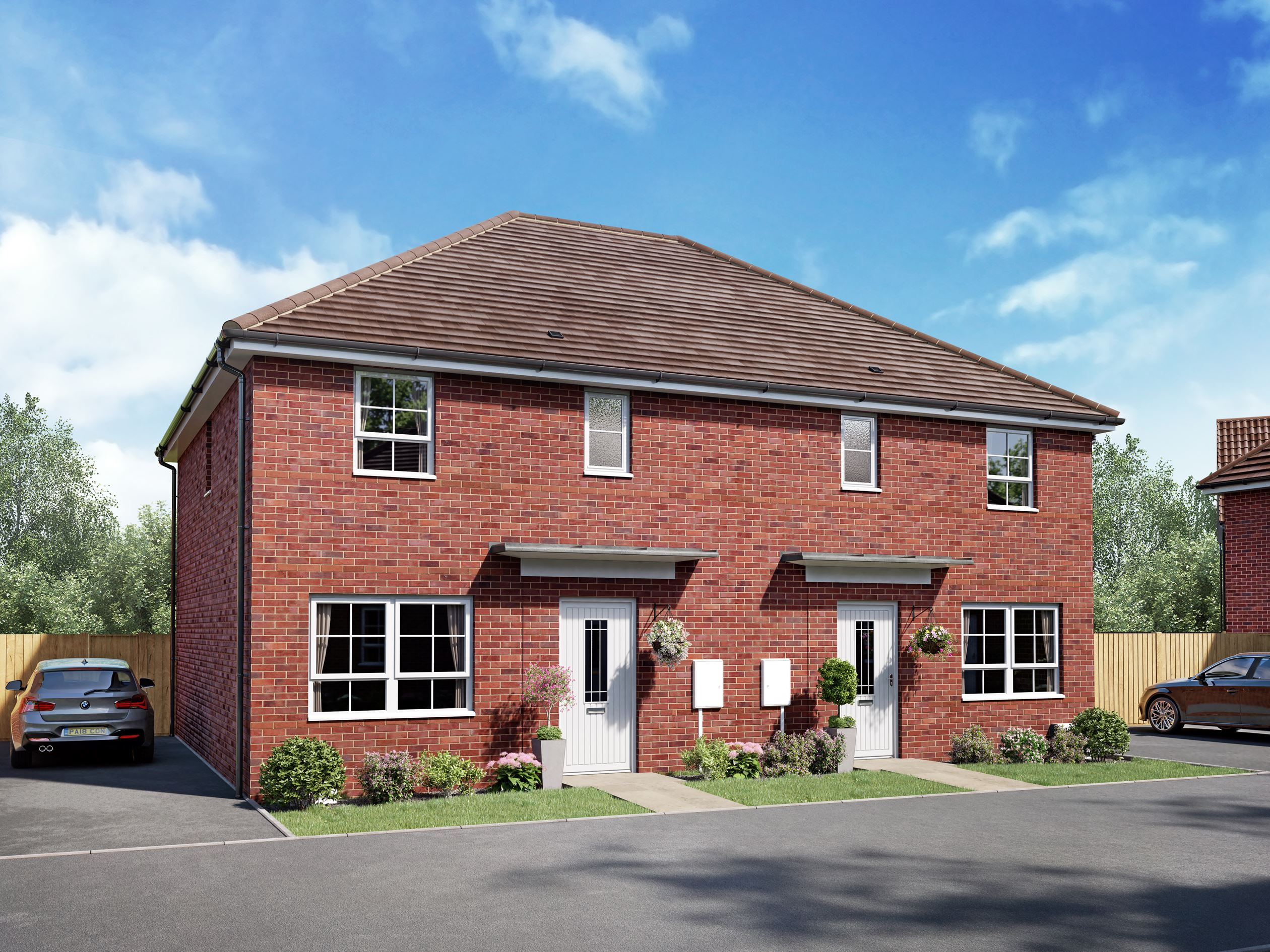 Hoy Plot 123 and 124, a semi-detached home at Wayland Fields