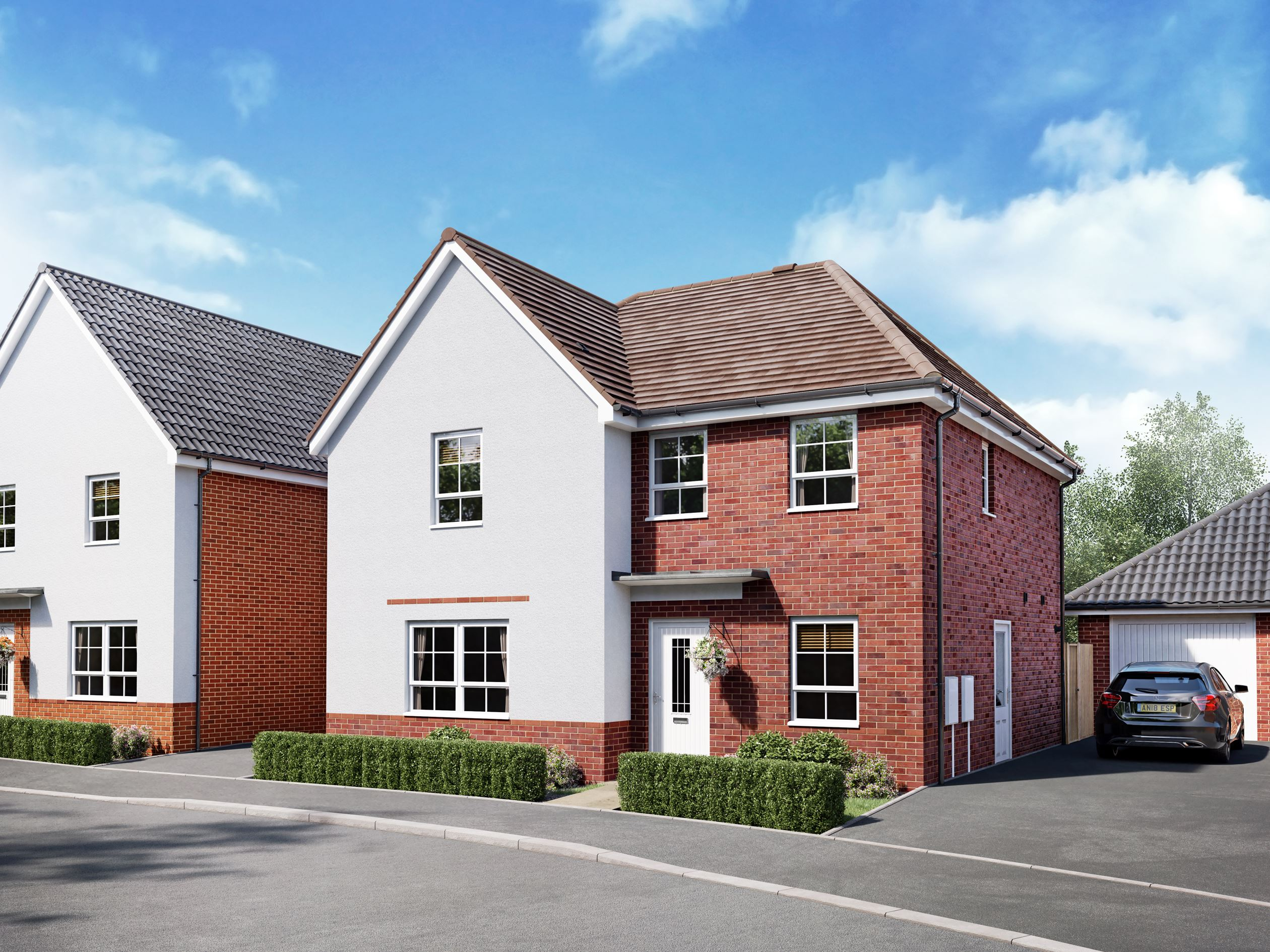 Radcliffe Plot 76, a detached home at Wayland Fields