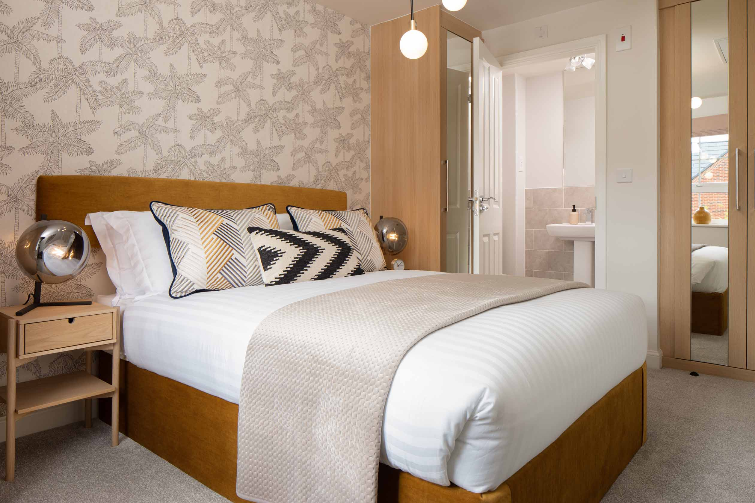 Barwick internal main bedroom and en suite, barratt homes, orchard green, kingsbrook