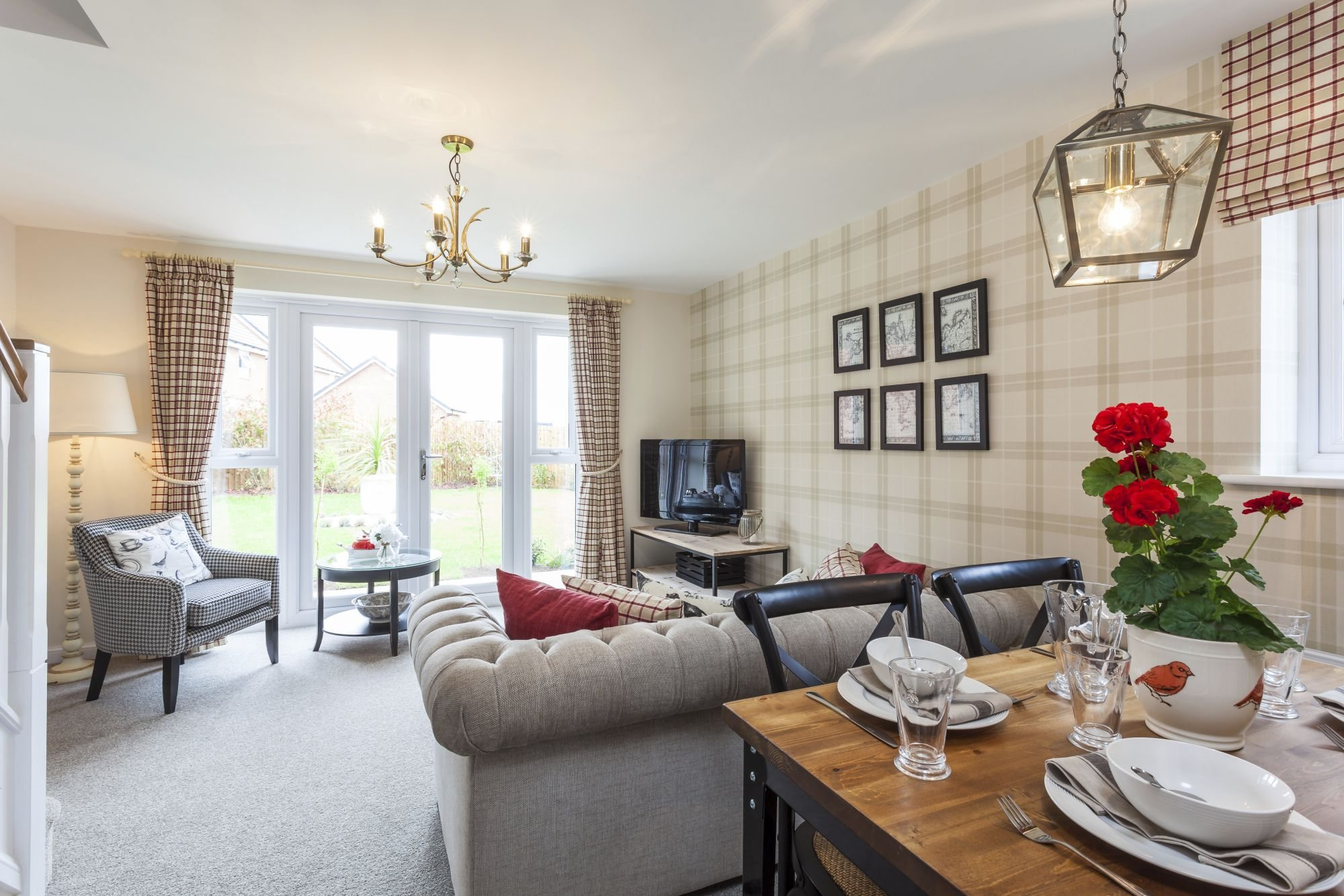 Holly Blue Meadows Ashford Show Home living and dining area