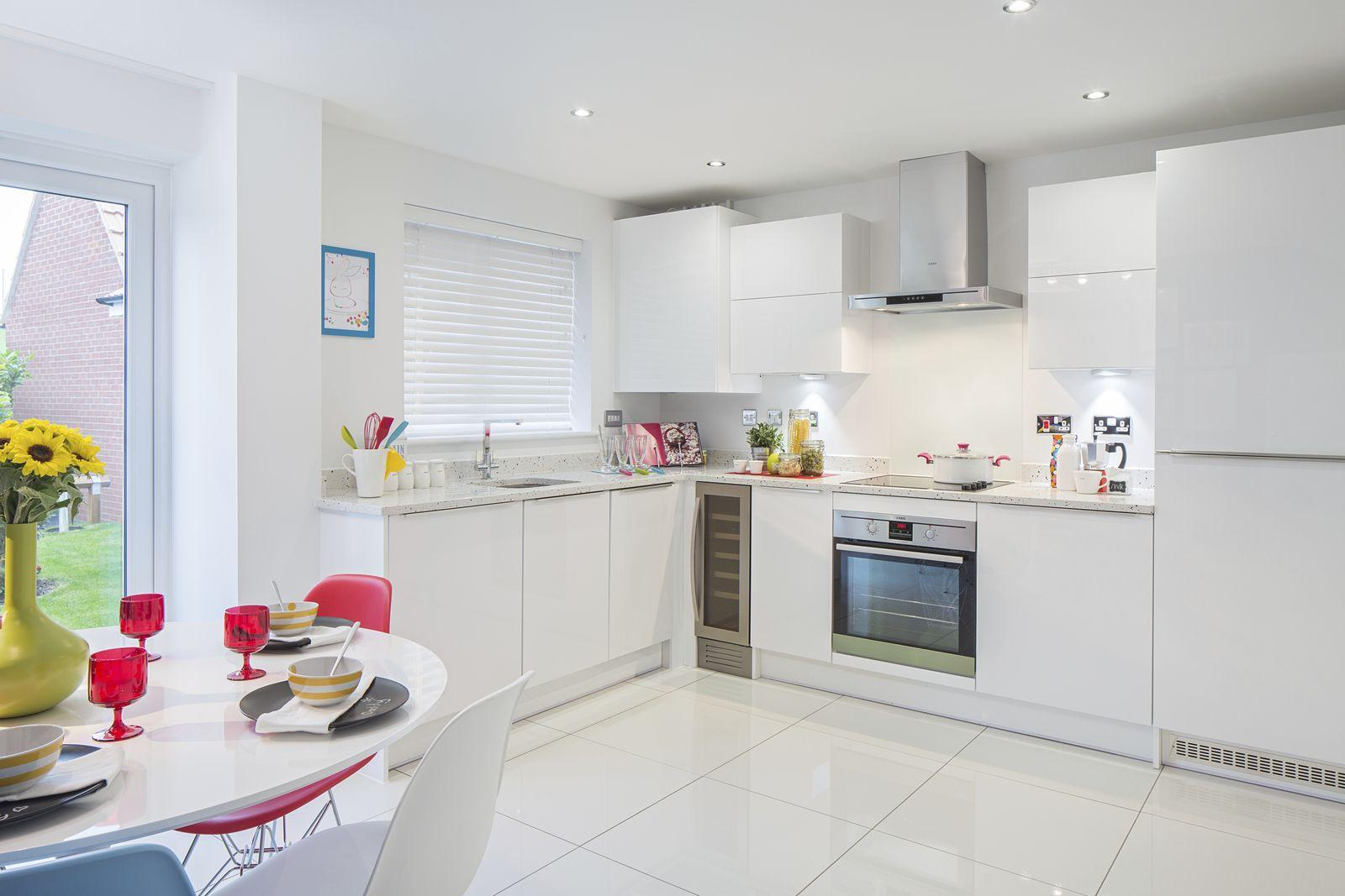 Typical Finchley fitted kitchen with family dining area