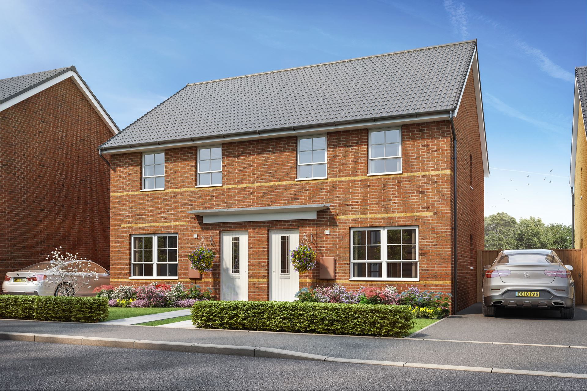 CGI. Outside view of the Maidstone. 3 bedroom semi detached home.