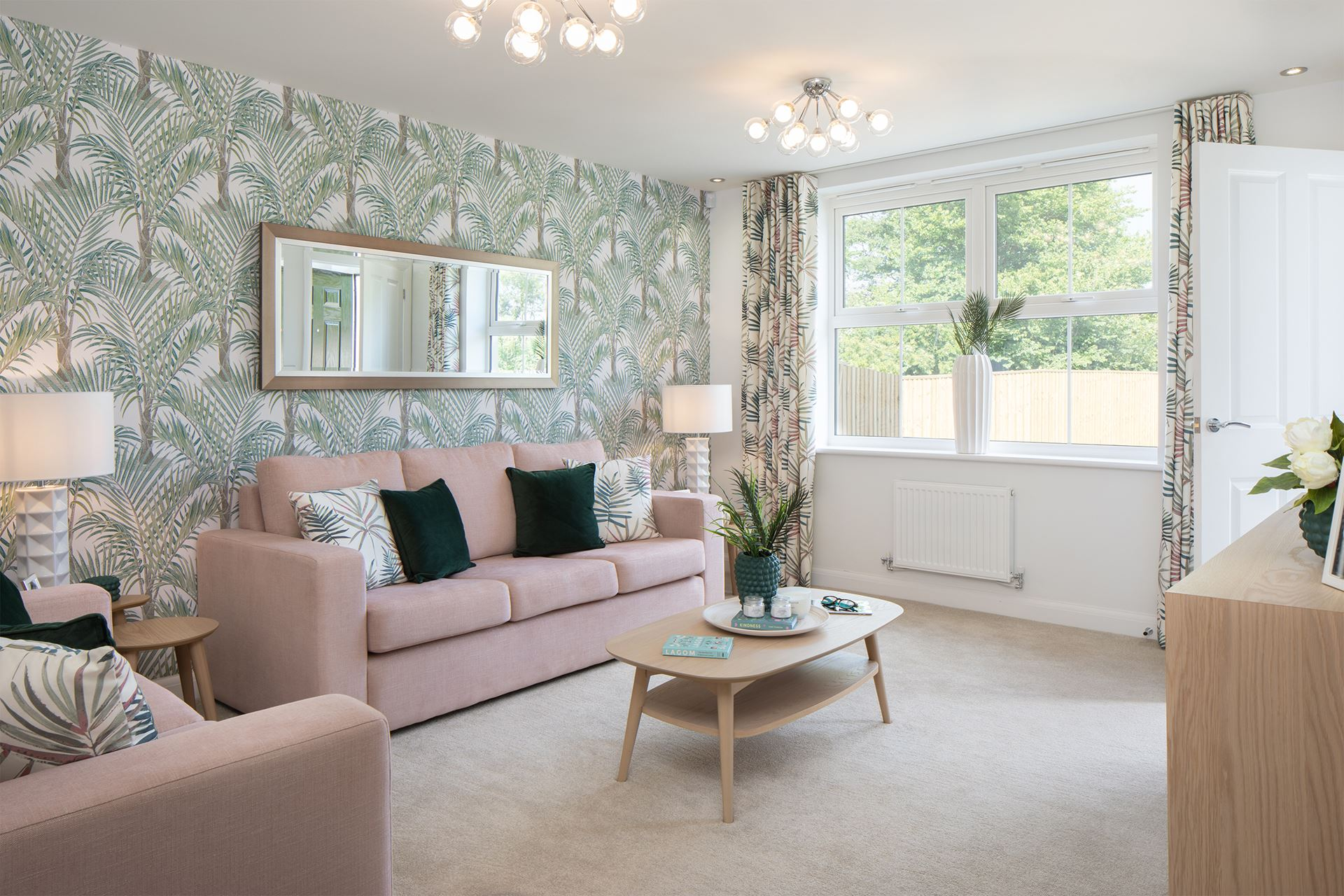 Lounge in the Archford Show Home at Raleigh Holt