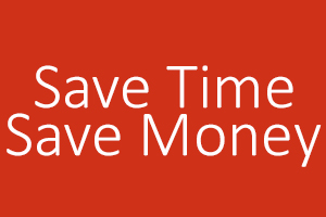 SAVE TIME SAVE MONEY BH 300X200 RED
