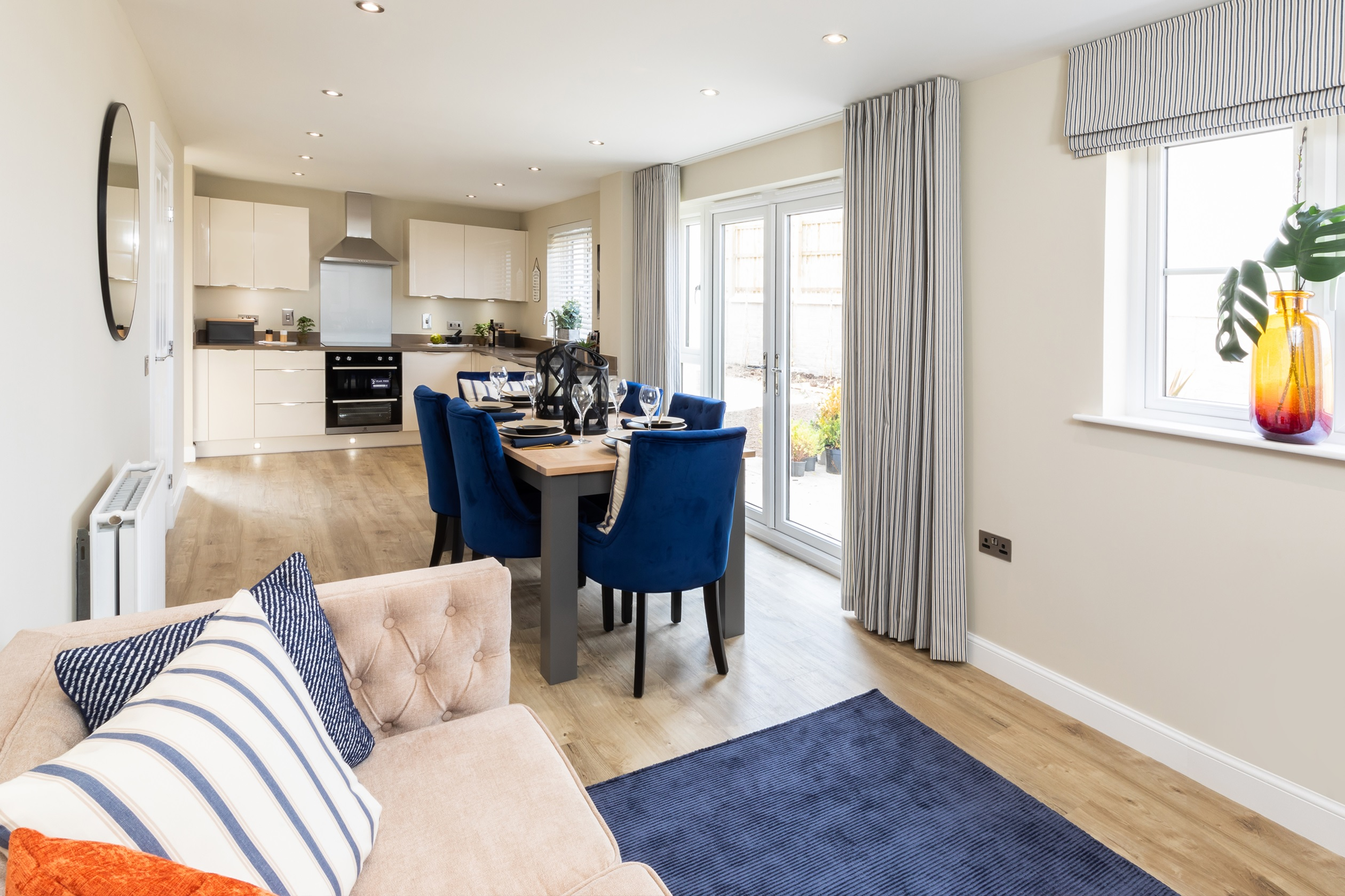 Balmoral Show Home at Hopecroft open plan kitchen, dining, family room