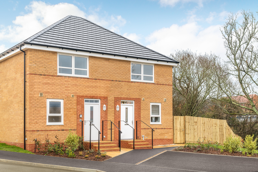 Outside view of the Belmont, 2 bedroom semi-detached home at St George's Gate, Newport