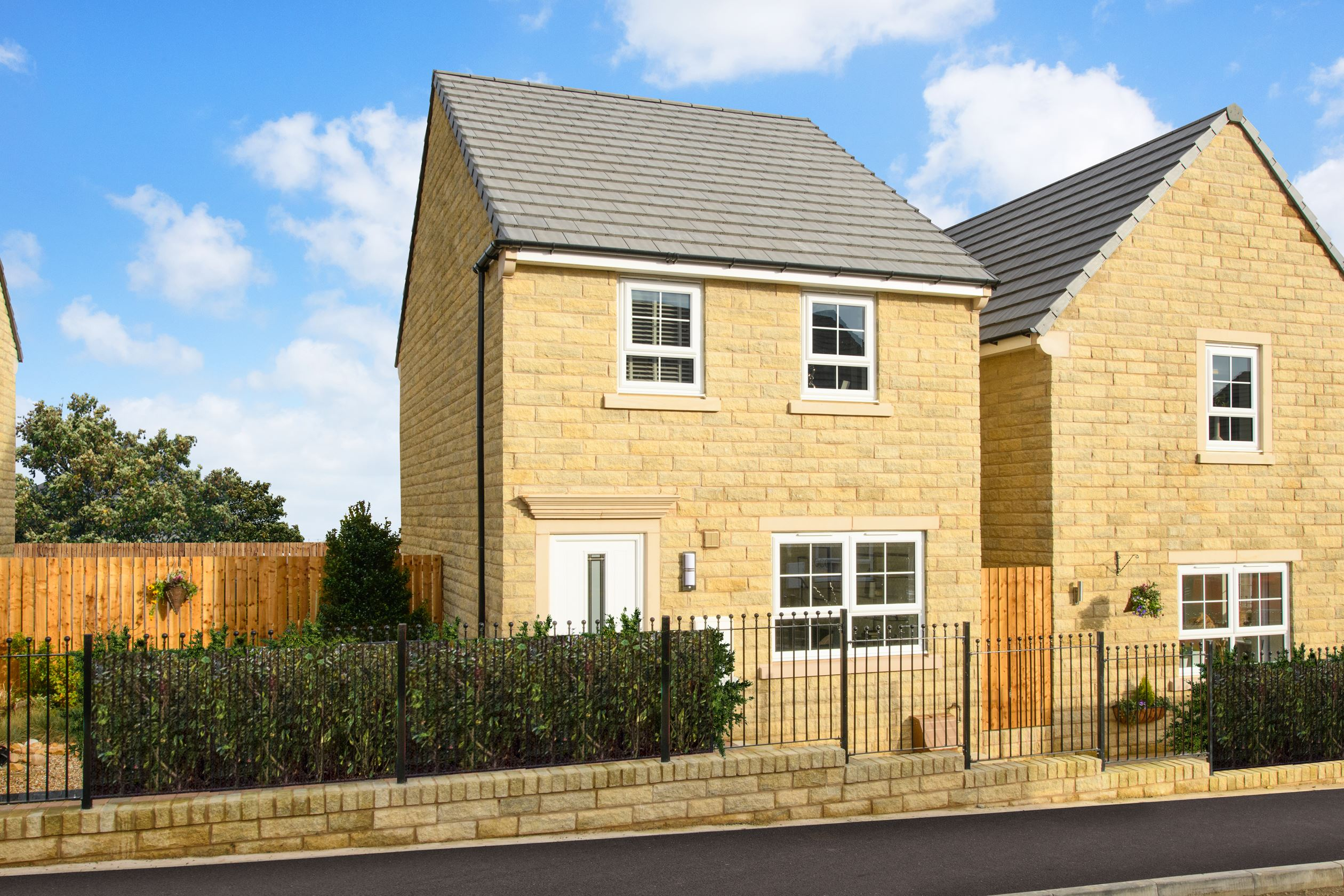 Outside view Maidstone stone 3 bed detached home