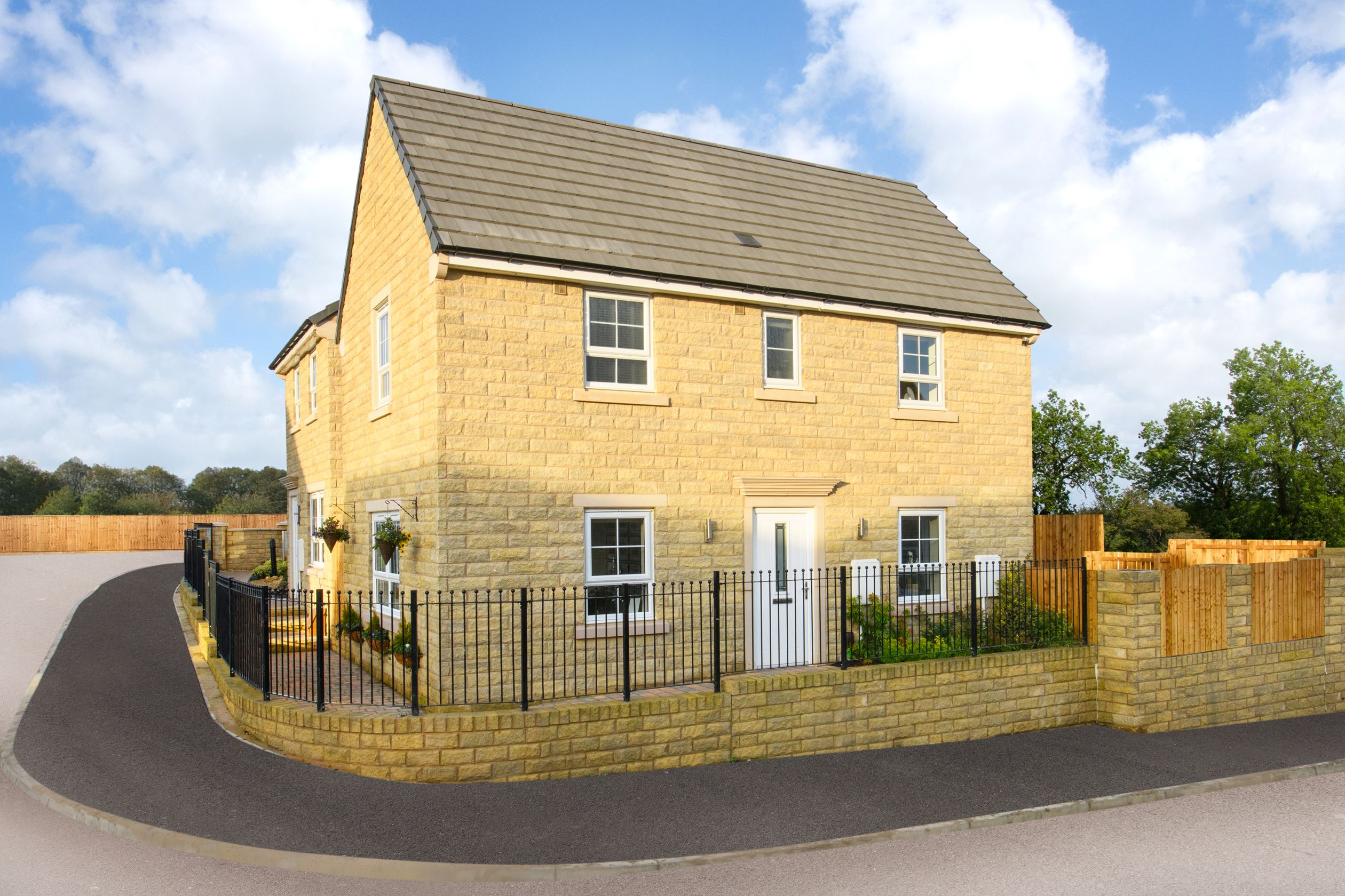 External view Moresby stone 3 bed semi-detached home