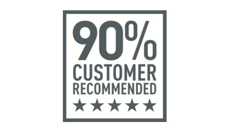 Over 90% customer recommended
