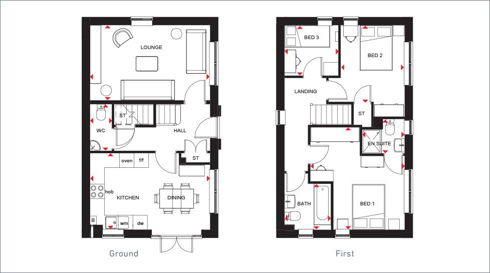 3 Bedroom New Homes For Sale The Ennerdale Barratt Homes
