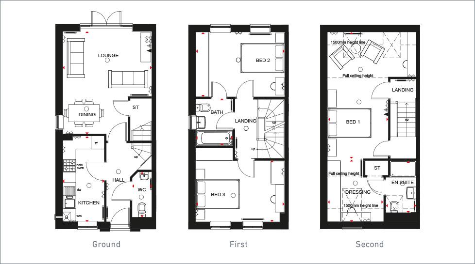 3 Floor New Homes For Sale The Norbury Barratt Homes