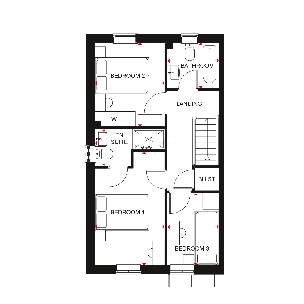 The Maidstone floor plan first floor