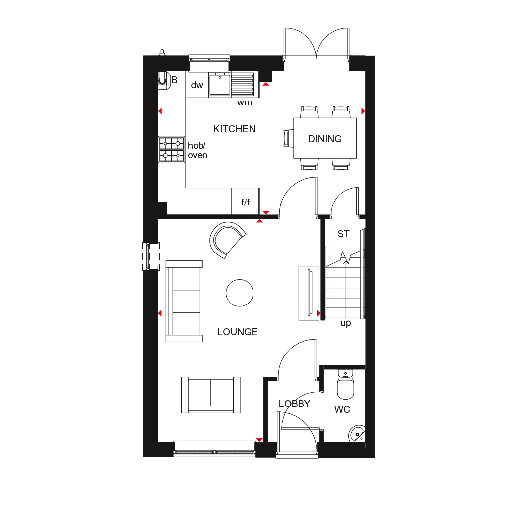 The Maidstone floor plan ground floor