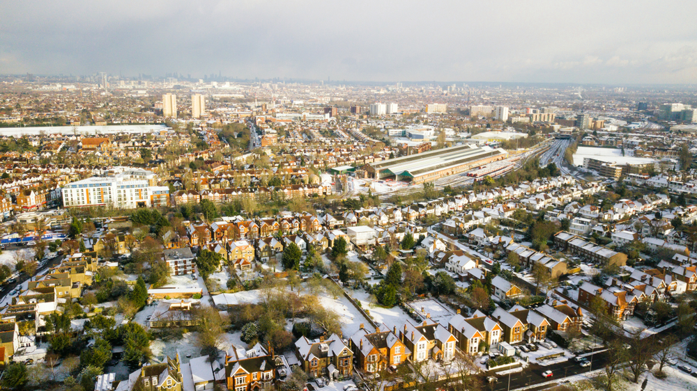 new homes in borough of ealing aerial view