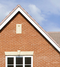 The corner of a Barratt home roof