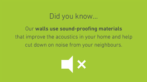 a graphic which explains the sound proof walls that Barratt homes are fitted with