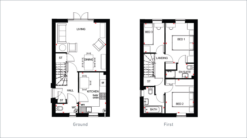 Barratt homes maidstone floor plan for Fleming homes floor plans